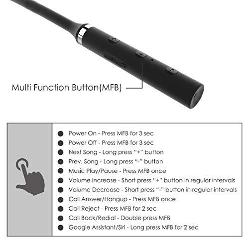 41zyMoOmzsL pTron Tangentbeat Bluetooth 5.Zero Wi-fi Headphones with Deep Bass, Ergonomic Design, IPX4 Sweat/Waterproof Neckband, Magnetic Earbuds, Voice Assistant, Passive Noise Cancelation & Mic - (Black)
