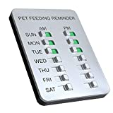 Allinko Dog Feeding Reminder Magnetic Reminder Sticker, AM/PM Daily Indication Chart Feed Your Puppy Dog Cat, Easy to Stick on Any Magnet or Plastic Surface - Prevent Overfeeding or Obesity
