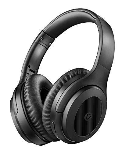 Active Noise Cancelling Headphones,Utaxo Bluetooth Headphones Over Ear with Mic Hi-Fi Sound Deep Bass Foldable Wireless Headset,Quick Charge 30H Playtime for Cellphone PC TV Travel
