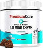PremiumCare Calming Treats for Dogs   Hemp Oil Infused Soft Chews for Dog Anxiety Relief   Aids Stress, Anxiety, Storms, Barking, Separation and More   120 Count Dog Calming Treats