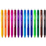 ParKoo Retractable Erasable Gel Pens Clicker, Fine Point, Make Mistake Disappear, Assorted Color Inks for Planners and Crossword Puzzles, 14-Pack