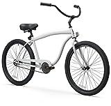 sixthreezero Men's In The Barrel 1-Speed 26-Inch Beach Cruiser Bicycle, Cool Gray