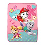 "Franco Kids Bedding Super Soft Plush Throw, 46"" x 60"", Paw Patrol Pink"