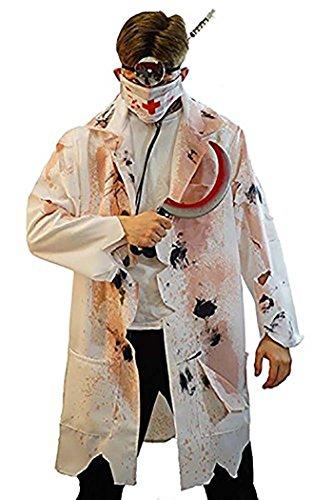Halloween-Evil-Stage-Panto ZOMBIE HORROR DOCTOR Men's Fancy Dress Costume - From Sizes Small-4XL (XXXXL)