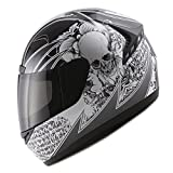 1STORM MOTORCYCLE FULL FACE HELMET Bike BOOSTER SKULL BLACK
