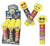 Kidsmania Laser Pop Emoji Pop with Lollipops, 12 Count