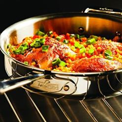 All-Clad Stainless Steel Tri-Ply 3-Qt Saute Pan
