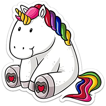 Download Amazon.com: Unicorn Sticker Decal Fat Cute Colorful Large ...