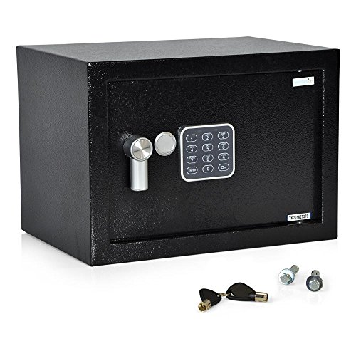SereneLife Fireproof Lock Box, Fireproof Box,...