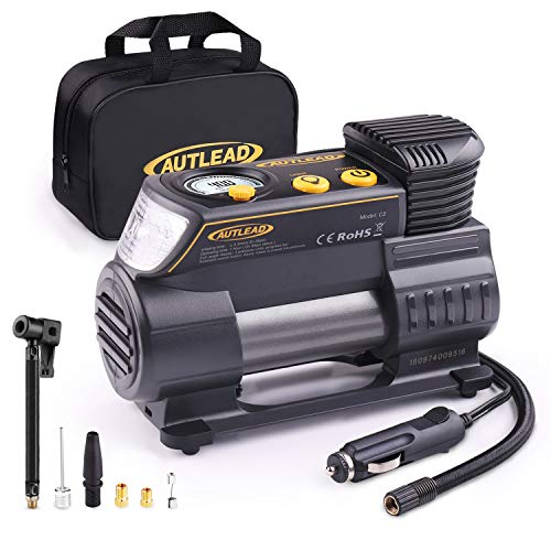 AUTLEAD C2 12V DC Portable Air Compressor Tire Inflator Pump with Digital Gauge for Car Bike Tires and Other Inflatables 51 2BB 2BC0yWoL