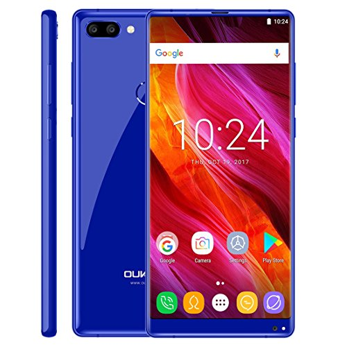 OUKITEL MIX 2 6GB+64GB 5.99 inch Android 7.0 MTK6757 / Helio P25 Octa Core up to 2.39GHz WCDMA & GSM & FDD-LTE (Blue)
