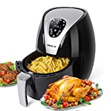 Air Fryer, PERSHOW Electric Hot Air Fryer Cooker, 6 Cook Prests, Comes with Recipes & CookBook - Touch Screen Control - Dishwasher Safe - Auto Shut off & Timer, 2.6 QT