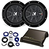 Dual 6.75' Kicker CompRT Refurbished Sub Package with Kicker 11DX250.1 Amp