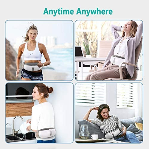 Rilassa Wireless Slimming Belt, Electric Abdominal Massager Portable Weight Loss Machine with 4 Vibration Massage Modes& Heating, Fat Burning Movement Improve Blood Flow For Women & Men 6