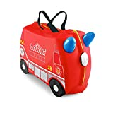 Trunki Original Kids Ride-On Suitcase and Carry-On Luggage – Frank Fire Truck (Red)