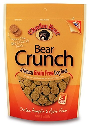 Charlee Bear Grain-Free Bear Crunch Chicken, Pumpkin & Apple Flavor - 2 Pack (16oz total) 1