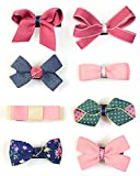 Belle Beau Baby Girls Hair Clips, Ribbon Lined Alligator Hair Bows, Infant Toddler Hair Accessories, Barrettes(Y)