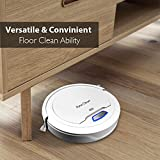 PUCRC25 Automatic Robot Vacuum Cleaner - Lithium Battery 90 Min Run Time - Robotic Auto Home Cleaning for Clean Carpet and Hardwood Floor Dry Mopping - HEPA Pet Hair Allergies Friendly - Pure Clean