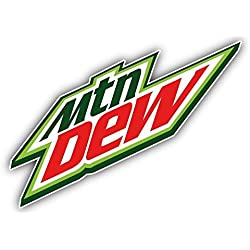 "valstick Mountain Dew American Soft Drink Car Bumper Sticker Decal 6"" x 4"""