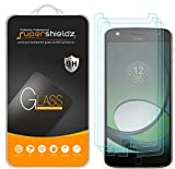 Supershieldz [3-Pack] for Motorola Moto Z Play/Moto Z Play Droid Tempered Glass Screen Protector, Anti-Scratch, Anti-Fingerprint, Bubble Free, Lifetime Replacement
