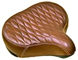 Fito Made in Taiwan GS Beach Cruiser Bike Bicycle Saddle Seat with Spring Suspension (Brown)