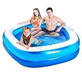 Jilong Pentagon Inflatable Family Pool, 79' x 77' x 18.5'