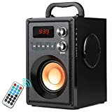 TAMPROAD Portable Wireless Bluetooth Speaker 20W Subwoofer Heavy Bass Wireless Stereo Outdoor/Indoor Speakers Support Remote Control FM Radio TF Card LCD Display for Home Party Smartphone Computer PC