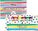 Fiddle & Doodle Dabber Dot Markers (8 Vibrant Colors) - Promotes Creativity and Early Childhood Learning - Includes 30 Activity Sheets for Teaching Alphabet, Numbers, Coloring and Drawing - Ages 3+