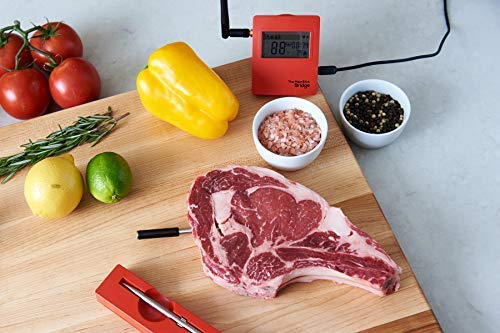 WiFiBluetooth-Meat-Thermometer-Set-with-2-TRUE-Wireless-Meat-Thermometers-and-WiFi-Bridge-for-BBQ-Oven-Smoker-The-MeatStick-Cook-meat-perfectly-via-Bluetooth-and-WiFi-for-iOS-and-Android