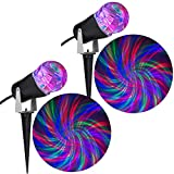 Holiday Light Show Projection Light Ribbon 2-Piece Combo Pack (RGB)