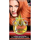 Garnier Olia Bold Ammonia Free Permanent Hair Color (Packaging May Vary), 7.45 Intense Fire Ruby, Red Hair Dye, 1 Count Kit