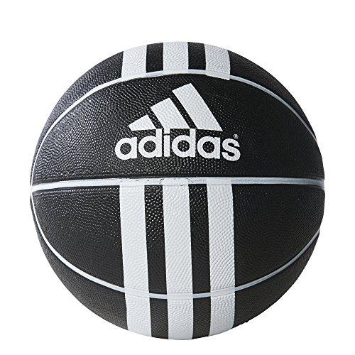 adidas 3S Rubber X Basketball (Black/White, 7)