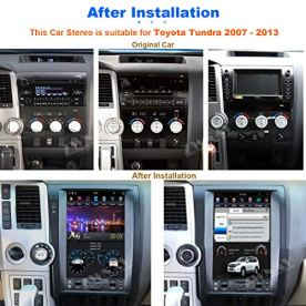 ZWNAV-Car-Stereo-for-Toyota-Tundra-Accessories-Radio-Carplay-Android-Auto-Head-Unit-Tesla-Style-Touchscreen-GPS-Navigation-Bluetooth-Mirror-Link-Multimedia-Unit-for-Toyota-Sequoia-2007-2013