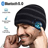 Bluetooth Hat, Mens Gifts, Bluetooth Beanie Wireless, Women Men Bluetooth Beanie hat, Hat with Bluetooth 5.0, Fit for Outdoor Sports, Washable, Gifts for Christmas Birthday Thanksgiving Day