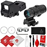 Circuit City Leapers UTG 3.9in Red/Green Dot Sight (SCP-RDM39SDQ) + 3X Flip to Side Magnifier (SCP-MF3WEQS) Combo Kit