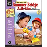 Summer Bridge Activities - Grades PreK - K, Workbook for Summer Learning Loss, Math, Phonics, Writing, Colors with Flash Cards and Stickers