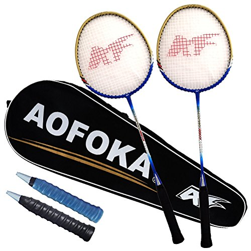L.E.D STEP 2 Player Badminton Rackets Sets Racket Combo Set Double 1 Carrying Bag Included (8603)