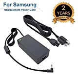 for Samsung 32' Class J5205 J5003 22' H5000 Full LED Smart HDTV Monitor TV Adapter Charger Power Cord Supply 19V AC DC 8.5Ft