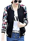 Product review for FV RELAY Women's Slim Fit Floral Print Baseball Bomber Jacket Casual Coat Outwear