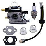 FitBest Carburetor C1U-K54A with Gasket Repower Kit Spark Plug for Mantis and Echo 2 Cycle Tillers TC-210 TC-210i TC-2100 SV-6 SV-5H/2 SV-5C SV-4B LHD-1700 HC-1500