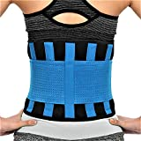 RiptGear Back Brace for Men and Women - Back Pain Relief Support for Lower Back Pain and Hip Pain - Lumbar Severe Back Pain Relief for Herniated Disc and Sciatica (Blue, Large - 32' to 35')