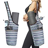 Ewedoos Yoga Mat Bag with Large Size Pocket and Zipper Pocket, Fit Most Size Mats. (Namaste)