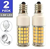 SRRB Direct LED Replacement Light Bulb for Cosmetic Vanity Makeup Mirror with Single or Double Sided Lighted Magnification (Non-Dimmable LED (Bulb Only), 3.5W)