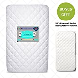 Pack N Play Crib Mattress Cover + Bonus Changing Pad Liner Included! – Waterproof, Hypoallergenic, Fitted with Ultra Soft Quilted Top - Fits Baby Playard, Portable & Foldable Mini Crib Mattresses