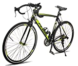 Merax Finiss Aluminum 21 Speed 700C Road Bike Racing Bicycle (54 cm, Green & Black)