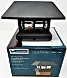 Veranda Solar Powered LED Plastic Post Cap 4  X 4 Inch with Rechargeable Battery, Black