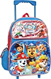 Paw Patrol Chase Marshall Rubble Rocky Skye 16 inches Large Rolling Backpack