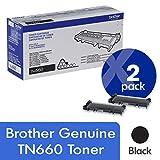 Brother Genuine TN660 High Yield Mono Laser Toner Cartridge 2-Pack