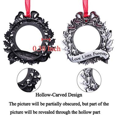 Christmas-Tree-Ornaments-Holiday-Keepsake-Gift-Home-Decor-Christmas-Decorations-Xmas-Gifts-Pendant-with-25-Photo-Frame-Insert-Gray-Round