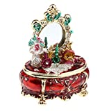 NATFUR 1:12 European Style Miniature Jewelry Box Dollhouse Dressing Table Decor Red